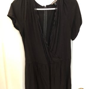 EXPRESS V-Neck Black Romper
